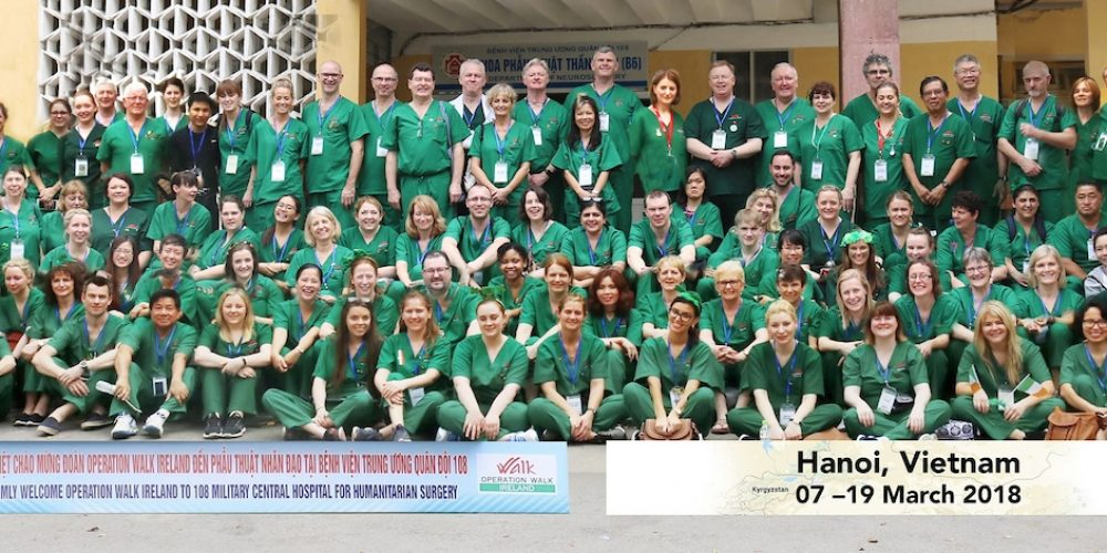 Operation Walk Ireland trip to Hanoi, Vietnam 2018
